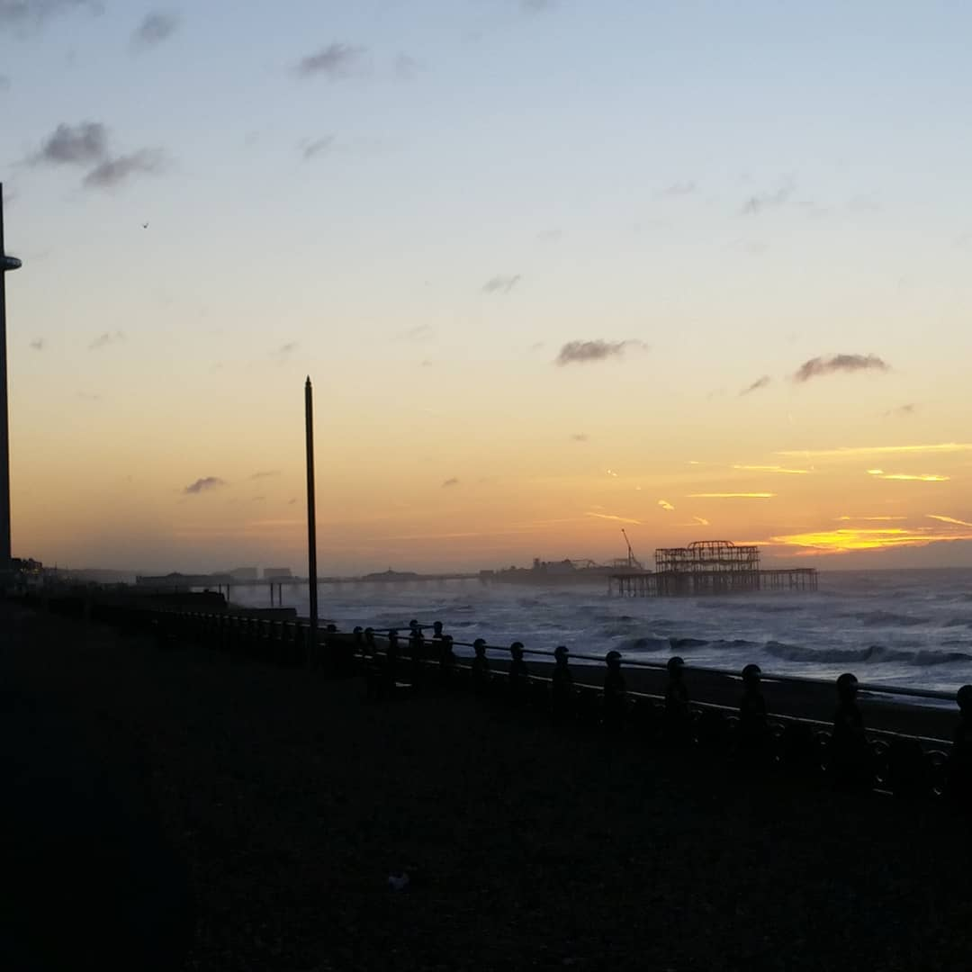 On the upside, I did get to see a sunrise over a dramatic sea