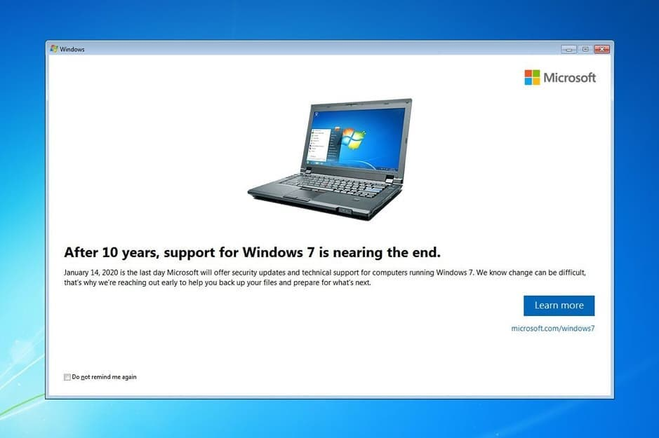Are you running windows 7 on your PC or Laptop? Did you know that from 14th January next year that Microsoft will no longer be supporting it? This means no more updates or security patches leaving you open to security breaches and hackers. Fear not, at Not Just PCs we can upgrade you to the latest version of Windows 10 from as little as £55. We'll even come and collect it from your home and drop it back to you once it's done, simple! If you're interested then give us a call on 01273 906969, or drop us and email at support@notjustpcs.co.uk And please remember to tell your friends